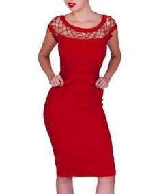 Another great find on #zulily! Tatyana Red Alika Pencil Dress - Women & Plus by Tatyana #zulilyfinds
