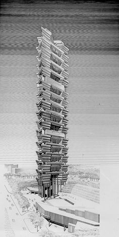 beach road rendering, paul rudolph