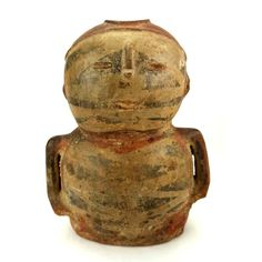 Pre-columbian Narino figure from Colombia, ca. Hollow pottery anthropomorphic vessel depicting a highly. Sold for on Aug 2016 Native Art, Auction, Pottery, Gallery, Image, Colombia, Culture, Ceramica, Roof Rack
