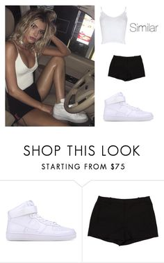 """""""Alissa Violet"""" by outfitsbyqueen ❤ liked on Polyvore featuring NIKE, L'Agence and Glamorous"""
