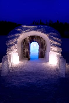 Alta, Norway ice hotel  I've been there and it's so lovely. Some are arranging to have their wedding there