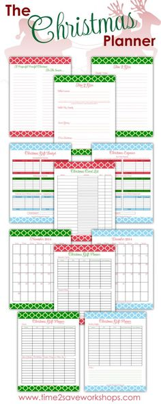 Free Christmas Planners by Time 2 Save Workshops