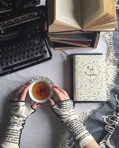 If Jane Austen had a typewriter, her reading/writing nook would have looked something like this #Austenland ...Thank you @abookishloveaffair for the beautiful scene featuring our P&P #writing gloves! (take a peek at the original photo on her Instagram profile for a discount code)
