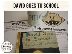 David Goes to School book study companion pack perfect for the beginning of the school year. Common Core aligned. Fun literacy activities and guided reading ideas for K-1. #bookstudy #literacy #guidedreading #backtoschool #1stgrade #kindergarten #bookstudies #bookcompanion #bookcompanions #1stgradereading #kindergartenreading Guided Reading Activities, Back To School Activities, Literacy Activities, 2nd Grade Reading, Kindergarten Reading, First Grade Jitters, Back To School Pictures, The Kissing Hand, Beginning Of The School Year