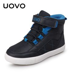 Awesome UOVO 2017 New Arrival Autumn Winter Walking Shoes Fashion Boys Casual Shoes Children Warm Comforable Sneaker Eur28#-37# - $ - Buy it Now!