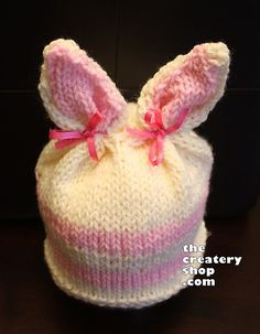 Ravelry: Knotty Bunny Animal Hat - Knitted in One Piece pattern by Createry Shop