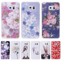 For Samsung Galaxy S6 S7 edge Case Hard Cover Rhinestone Flower Diamond Capa Coque For Galaxy S6 S7 edge Plus Fundas Carcasas