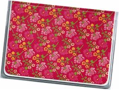 Card Case / Mini Wallet  Pink and Yellow Tiny by rabbitholeonline, $4.25