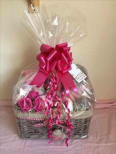 Mini nail pampering gift baskets wrapped up my own homemade gift medium mothers day gift basket wrapped up negle Image collections