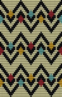 Seed Bead Patterns, Beading Patterns, Stitch Patterns, Crochet Crafts, C2c Crochet, Filet Crochet, Cross Stitch Embroidery, Tejido Fair Isle, Tapestry Crochet Patterns
