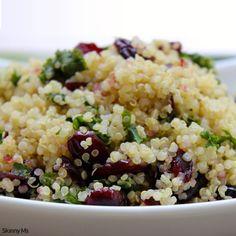 Kale and Quinoa Salad with Lemon Vinaigrette - Skinny Ms.