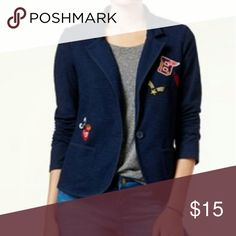 NWT Freshman Junior Patch Knit Blazer - Size M Freshman takes the classic blazer and adds whimsical patch detail throughout for a fun take on a polished style. Freshman Jackets & Coats Blazers