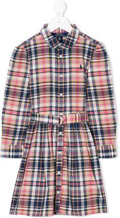 Ralph Lauren check belted shirt dress