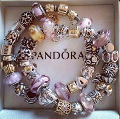Ooh look what I found! Pastel Pandora yellows and purples. Opposite colours on the colour wheel. Really nice combination!!