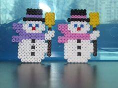 Snowmen perler beads