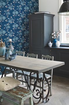 #LivingLifeInFullBloom  ❤️ Blue Wallpaper collection Glamorous - BN Wallcoverings
