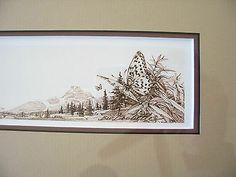 Bev Doolittle Butterfly Remarque Framed in real Cherry Hardwood Bev Doolittle, Hardwood, Cherry, Butterfly, Tapestry, Frame, Decor, Art, Hanging Tapestry