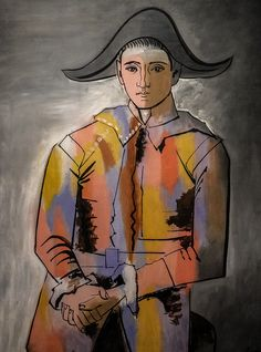 "Pablo Picasso, ""Harlequin with Hands Folded"", 1923."