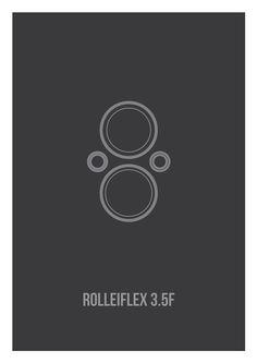 Minimalist posters of Leica, Hasselblad, Rolleiflex
