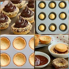 Таня's media content and analytics Donut Recipes, Tart Recipes, Healthy Dessert Recipes, Mini Desserts, Sweet Desserts, Chocolate Desserts, Chocolate Strawberry Pie, Mini Pastries, Pastry Design