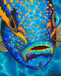 Daniel Jean-Baptiste is the world's leading silk painting artist. He specializes in tropical art painted in rich vibrant colours. Watercolor Fish, Watercolor Paintings, Paintings Of Fish, Silk Painting, Artist Painting, Painting Abstract, Acrylic Painting Inspiration, Sea Life Art, Tropical Art