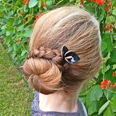 Black Copper Calla lily hairstick hairpin hair chopstick elegant hairpiece prom … - All For Hairstyles Formal Hairstyles, Up Hairstyles, Straight Hairstyles, Braided Hairstyles, Chopstick Hair, Prom Hair Accessories, Halloween Hair, One Hair, Hair Sticks