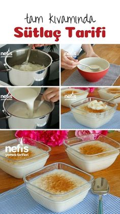 How is Rice Pudding Made? Delicious Food Date Date Recipes, Cooking Recipes, Healthy Recipes, Turkish Recipes, Caramel, Deserts, Food And Drink, Yummy Food, Sweets