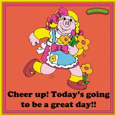 Look on the positive side with Sweet Pickles character Pig    http://sweetpickles.com/books/pig-thinks-pink/