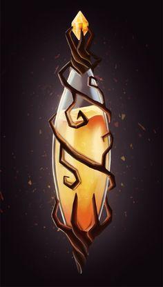orange bottle by kinoraya
