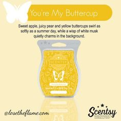 You're my Buttercup is a fresh and lightly sweet scent that will have you dreaming of summer.  #losetheflame #scentsy