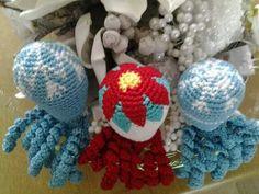 Deze inktvisjes zijn gemaakt door Annelies de Kraker.