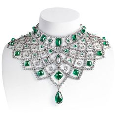 The Gryphon's Nest — Emerald & Diamond Necklace by Fabergé!