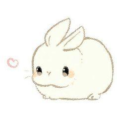 Cute Kawaii Animals, Cute Animal Drawings Kawaii, Cute Little Drawings, Cute Little Animals, Cute Drawings, Kawaii Doodles, Cute Doodles, Bunny Art, Cute Bunny