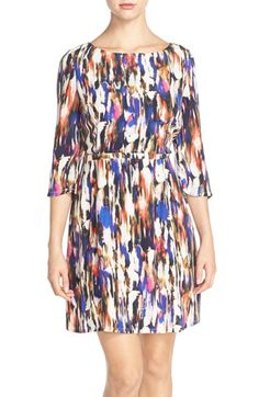 French Connection 'Record Ripple' Print Jersey A-Line Dress | Nordstrom