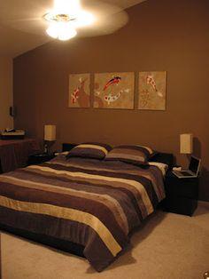 موبليات غرف نوم باللون البني