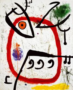 Joan Miró (1893-1983): Femme espagnole (Spanische Frau), 27. März 1972, Privatsammlung