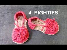 Sandalias de crochet de bebé. Crochet baby sandals, crochet booties. - YouTube