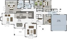 Karapiro 4 bedroom house plans Landmark Homes builders NZ