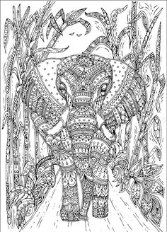 Doodle Patterns 170081323408032966 - Hand-drawn elephant with ethnic floral doodle pattern. Coloring page – zendala, design for meditation, relaxation for adults, vector illustration, isolated on a white background. Zen doodles Source by mellecarine Blank Coloring Pages, Pattern Coloring Pages, Printable Adult Coloring Pages, Mandala Coloring Pages, Animal Coloring Pages, Coloring Books, Doodle Art Drawing, Zen Doodle, Elephant Coloring Page