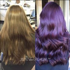 So in love with this plum color created by jeni_does_ham on Instagram! She used #KenraColor 6RV+5VR.
