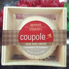 Coupole, created at VBCC, is a cheese that I find to be so addictive I just keep coming back for more.   A combination of the recipes for Bijou and Bonne Bouche, this domed delight has a delectable and distinct flavor.  This fresh, pasteurized goat's milk cheese encompasses all for the turophile–visually appealing, fabulous texture, and an absolutely divine taste.