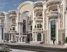 come and design your villa or building or hotel or interior decor or exterior design with us we have fantastic architectural designs and plans and we will make your dream We are professional in our work and our prices are very competitive Modern Villa Design, Classic House Design, Duplex House Design, Luxury House Plans, Luxury Homes Dream Houses, Modern Mansion, Mansions Homes, Dream House Exterior, Exterior Design