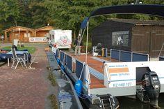 Die Beladung des Wechsel-Watercamper mit einem Hobby-Wohnmobil / Teil 1. www.bootscharter-mueritz.eu