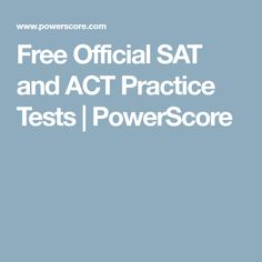 Prep for the SAT or ACT online by taking these free official sample practice tests. Sat Test Prep, Sat Prep, Act Practice Test, Sat Tips, College Test, School 2017, Sats, Homeschool High School, Career Planning