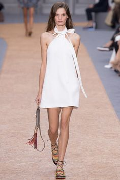 Trapeze dress. See the complete Chloé Spring 2016 Ready-to-Wear collection.