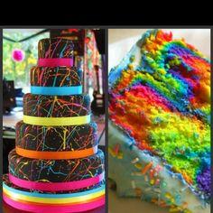 paint splatter cake, Jocelyn would love it!!  She wants a paint splatter room!