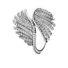 Bague Plumes Majestueuses argent 925/1000 PANDORA 190960CZ    https://www.planete-bijouterie.com