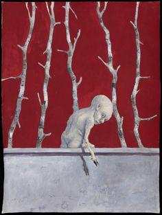Michael Kvium akvarel