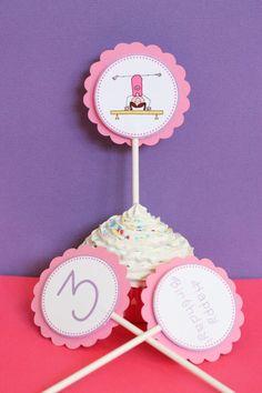 Girl Gymnastics Birthday Party Package via Etsy