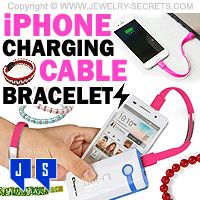 ►► IPHONE CHARGING CABLE SYNC BRACELETS ►► Jewelry Secrets